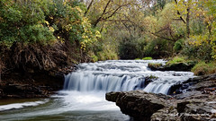 Briggs-Woods-Waterfall-v2 (Aria (RJWarren)) Tags: nature outdoor day midwest iowa briggswoods canon t3i landscape waterfall autumn 1855mm water river colors