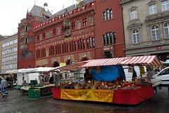 BASEL, SWITZERLAND (posterboy2007) Tags: basel switzerland swiss cityhall rain market rathaus marktplatz