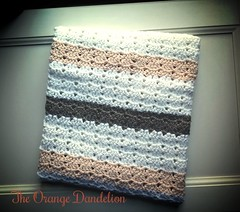Crochet baby blanket in white, apricot and brown (_Giorgia) Tags: blanket brochet babyblanket etsy