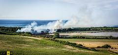 Incendio platamona (9) (Autolavaggiobatman) Tags: canadair incendio platamona pineta elicottero stagno fiamme fumo mare sardegna