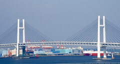Yokohama Bay Bridge (ELCAN KE-7A) Tags: bridge japan architecture bay pentax  yokohama kanagawa    2014   k5s