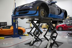 Bugatti Veyron on the Lift