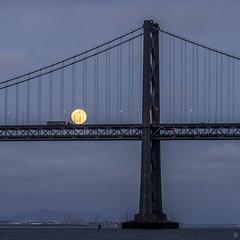 Full-Moon Rising (alittlegordie) Tags: sf sanfrancisco moon baybridge bayarea