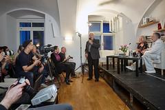 Pozvání k diskusi přijal také Alexandr Kliment. (Knihovna Vaclava Havla) Tags: kliment