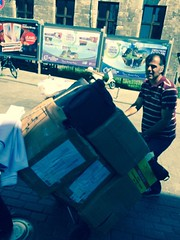 Best Conference Picture. Lawyer Nhar from the organizing committee pushing a cart full of conference materials up Istanbul Hills. (Global Islamic Marketing Conferences) Tags: marketing university istanbul conference 6th global islamic | 2015 العالمي المؤتمر اسطنبول جامعة السادس الاسلامي للتسويق