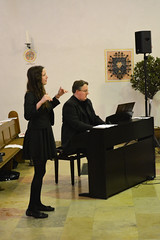 Chorleiterin Marie Becker und Christof Ohms