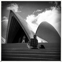 untitled (Albion Harrison-Naish) Tags: waterfront sydney streetphotography australia newsouthwales sydneyoperahouse iphone sydneycity mobilephotography iphoneography sydneystreetphotography hipstamatic aobwfilm iphone5s lowylens albionharrisonnaish stairsandescalators