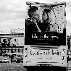 Life in the now (Laugaut) Tags: street paris france bus pub concorde ck rue calvinklein x100t