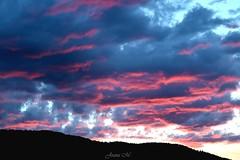 Red Clouds (joanamujollari) Tags: sunset sky cloud mountains clouds dark landscape amazing outdoor greece