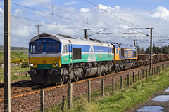 66711 6S51 (Rossco156433) Tags: train outside scotland gm diesel shed engine loco locomotive freight irvine levelcrossing ayrshire generalmotors class66 northayrshire gbrailfreight gailes gbrf 66711 66736