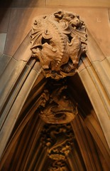 Beast (sfryers) Tags: stone architecture manchester 50mm dragon takumar library gothic victorian archive carving gargoyle beast 114 johnrylands supermulticoated