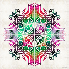 Bright Colorful Pattern Art - Color Fusion Design 9 By Sharon Cummings (BuyAbstractArtPaintingsSharonCummings) Tags: pink red color green floral sign modern asian colorful pattern purple bright lace feminine contemporary vibrant indian victorian highcontrast mandala thai brightcolors elegant delicate healing primary brilliant bold chakras intricate asianart pinkandgreen indianart healingmandala thaiart vintagepattern colorfulart sharoncummings uniquedesign colorfulpatterns chakracolors elegantpattern southeastasainart