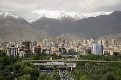 Tehran (Martin Tsvetkov) Tags: city travel panorama snow tower architecture landscape photography view iran prayer palace tehran milad shah azadi golestan