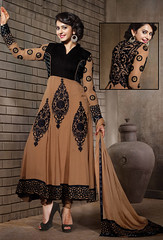 Black,Brown Georgette,Shantoon Anarkali Salwar Suit (nikvikonline) Tags: uk wedding usa brown canada color fashion festival work women designer australia wear fancy online frock weddingdress desinger kameez shalwar anarkali womenswear dailywear freeship freeshipping womenclothing fashiondress designerwear womenfashion weddingwear designersuit designercollection onlinewomens anarkalisuitsdesigns onlinekameez achkanstyle kamizonline brownsalwar brownkamiz brownkamizsalwar
