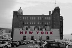 Hotel New York - Rotterdam (Mone-Photography) Tags: city red party blackandwhite white ny newyork haven black netherlands night dinner hotel rotterdam harbour sleep nederland hotelnewyork rdam roffa