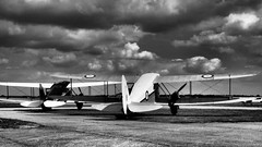 Dragon Rapide's - IWM Duxford (davepickettphotographer) Tags: uk dragon aircraft aviation dh duxford cambridgeshire airmuseum warmuseum dehavilland imperialwarmuseum iwm rapide olympuscamera classicwings davepickettphotographer theimperialwarmuseumuk imperialwarmuseumuk