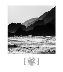 West Coast Layers (Dervish Images) Tags: ocean newzealand bw seascape monochrome square landscape mono blackwhite squareformat westcoast dervishimages russdixon