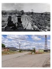 Mound House, NV - 1938 and 2016 (tonopah06) Tags: railroad yard nevada 1938 engine nv locomotive reno complex vt 2016 moundhouse no11 virginiaandtruckee