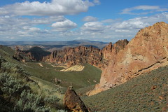 Incredible view as we climbed out the canyon (rozoneill) Tags: lake oregon river carlton butte desert hiking painted canyon vale trail backpacking saddle blm uplands owyhee honeycombs