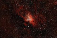 The Eagle Nebula (M16) (Martin_Heigan) Tags: eaglenebula m16 astronomy astrophysics astrograph telescope newtonian reflector celestron avx hydrogen deepsky dso space science physics canon 60da mhastrophoto martin heigan astrophotography stats starfield deepskyobject messier16 ngc6611 messier ifn nebulosity pi sgp southernhemisphere africa deepspace nebula gasanddust spectral emissionnebula nebulae cosmos astrometrydotnet:id=nova1647032 astrometrydotnet:status=solved ic4703 astroimaging