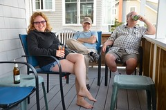 On The Cottage Porch (Joe Shlabotnik) Tags: verne higginsbeach sue rich maine july2016 2016 afsdxvrzoomnikkor18105mmf3556ged