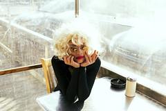 Diner Dash (cityboycza89) Tags: female cigarettesmoke smoking cigarette diner cafe portrait hot sexy black hair blondehead fashion beauty woman photoshoot second