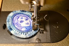 making a satin stitch edge (Danny W. Mansmith) Tags: workinprogress sewing satinstitch dannymansmith fiberart