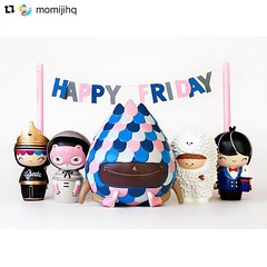 #fbf Gomi doll I designed for @momijihq + friends Happy Friday! 💕 (Andrea Kang) Tags: instagram gomi cute kawaii doll dolls momiji momijidolls momijihq weekend friday pink party designertoys arttoys resin bubiauyeung treeson