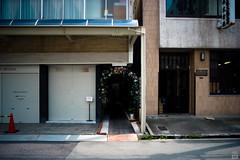 Arch of roses (yasu19_67) Tags: summer street cityscape archofroses rose filmfake filmlike digitaleffects sunlight shadow atmosphere photooftheday sony7ilce7 pentaconprakticar28mmf28 28mm osaka japan xequals filmlook