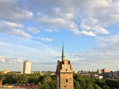 Rostock - Krpeliner Gate - Inner city - view direction southwest (arwed.kubisch1) Tags: rostock hanseatic hansestadt krpeliner tor gate cloudy clouds blue sky wolkig wolken blau himmel inner city stadtzentrum