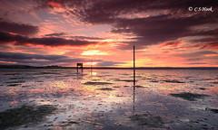 Causeway Sunset (carmellestewarthook) Tags: causeway holy island refuge hut sand lee 70d stewarthook