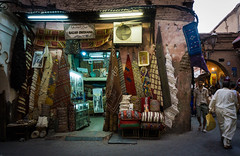 Carpet shop in Marrakech
