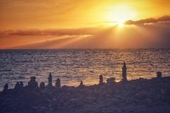Atlantic Sunset (Nige H (Thanks for 20m views)) Tags: nature landscape sunset sky clouds rocks coast coastline shore sea ocean atlanticocean tenerife canaryislands rockstacks