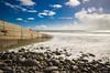 Amroth beach (bigbluewolf) Tags: nikon d7000 long exposure beach sea rocks wales amroth blue sky clouds cloud cloudy seaside sigma 1020mm sigma1020mm