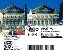 Palais Garnier | Opra National de Paris | Ticket (Elisabeth de Ru) Tags: paris parijs france palaisgarnier opragarnier ticket billet visites