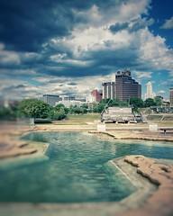 Downtown Dream (scottwills) Tags: uploaded:by=instagram memphis downtown mud island city sky blue clouds skyline scott wills scottwills