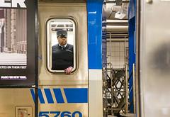 Conducting Business (John Fraissinet) Tags: street nyc newyorkcity ny newyork train path sony streetphotography conductor streetobservationscom nex7 johnfraissinet