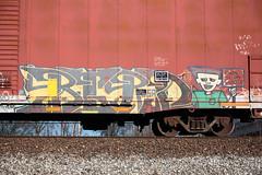 Flats in Da Hood (Sean Davis) Tags: train graffiti memphis wiseacre flatsindahood