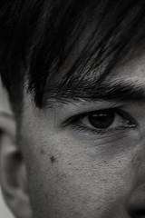 An Eye for an Eye (richard.shearer) Tags: eye texture face mouth hair nose eyes focus skin ears ear half quarter tone