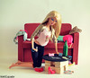 Party Girl (violetcazador) Tags: party girl funny dolls barbie pregnant drugs booze subversive