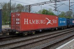 92633 Northampton 220414 (Dan86401) Tags: wagon northampton flat container fl 92 freight modal rls kfa freightliner intermodal hamburgsud wcml 92633 railease 4m88 standardwagon rls92633