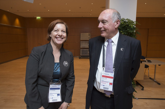 Nicole Spencer and Warren Truss at the Ministers' Roundtable