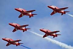 RAF Red Arrows (Pirate!!) Tags: aviation flight redarrows raf displayteam hawkt1