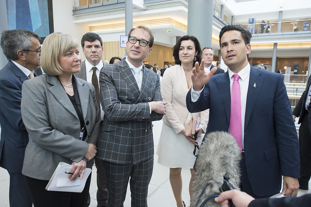 Alexander Dobrindt and Simon Bridges speaking