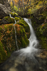 """Cascade in the autumn"" (Fabio Rage) Tags: park morning autumn light camp patagonia snow argentina river de waterfall los torre el lagoon rage fabio mount cerro national tres laguna rise cascade cachoeira sum chalten cascata glaciares"