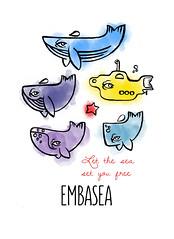 LET THE SEA SET YOU FREE (Luca Molinas) Tags: sea bali fish yellow set illustration star you free submarine whale whales let tarifa carloforte molinas molinaslica
