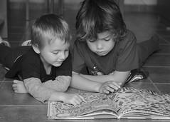 Busca que te busca... 34/52. (anajvan) Tags: byn interior leer nios libros