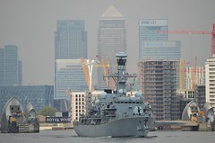 HMS Kent (2) @ Woolwich Reach 16-05-16 (AJBC_1) Tags: uk england london buildings boat ship unitedkingdom military navy vessel frigate canarywharf riverthames warship cityskyline eastlondon rn thamesbarrier gallionsreach royalnavy londonskyline nikond3200 northwoolwich newham britisharmedforces citybuilding militaryvessel navalvessel hmskent type23frigate woolwichreach londonboroughofnewham f78 ukmilitary dlrblog ajc
