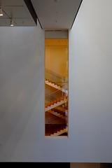 MoMA (h4mster) Tags: nyc newyorkcity building art museum architecture stairs contemporaryart modernart indoor moma fujifilm x100s