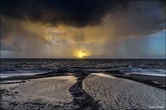 Le soleil se lvera malgr la pluie (Laurent Asselin) Tags: ocean sun mer water rain clouds sunrise soleil eau pluie cte ciel nuages leverdesoleil rivage aube ocan guyane